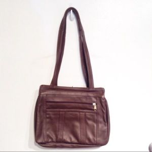 Genuine Mexican Leather Leather Brown Purse